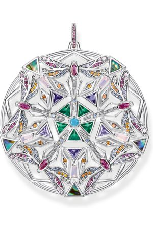Thomas Sabo Damen Anhänger - Anhänger Amulett Kaleidoskop Libelle silber mehrfarbig