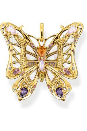 Thomas Sabo Damen Anhänger - Anhänger Schmetterling farbige Steine silber-gold mehrfarbig