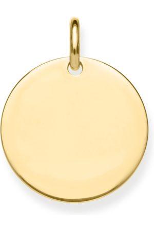 Thomas Sabo Anhänger Coin groß gold mit Gravur silberfarben