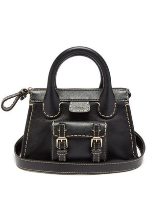 Chloé Edith Small Topstitched Leather Shoulder Bag