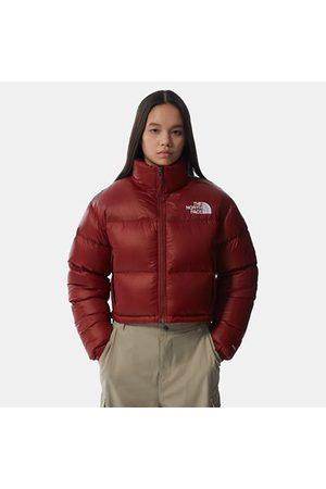 The North Face Nuptse Kurze Jacke Für Damen Brick House Red Größe L Damen