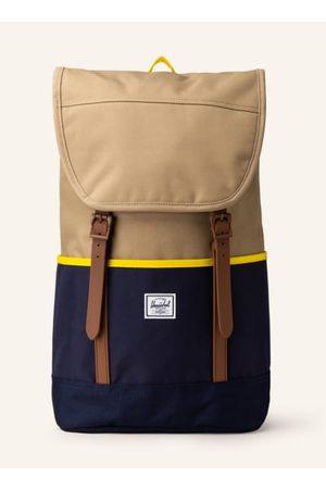 Herschel Herren Laptop- & Aktentaschen - Tagesrucksack für Damen und Herren. Aus recycelten Materialien. Gepolsterte Schultergurte. Höhenverstellbarer Deckel mit Reißverschlussfach. Seitenfächer. Gepolstertes Laptop-Fach für ein 15-Zoll Laptop. Mesh-Innen
