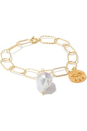 Hermina Athens Coin, Baroque-pearl & -plated Bracelet