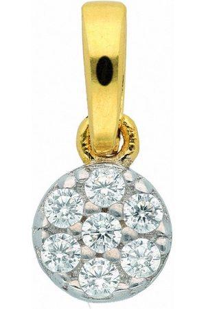 Adelia's Kettenanhänger »333 Gold Anhänger mit Zirkonia Ø 4,8 mm«, Goldschmuck für Damen