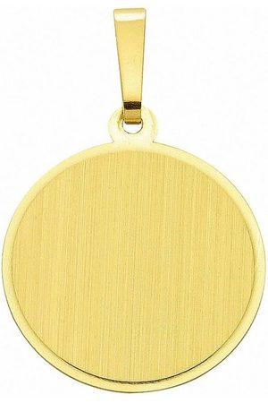 Adelia's Kettenanhänger »333 Gold Gravurplatte Anhänger Ø 15,5 mm«, 333 Gold Goldschmuck für Damen