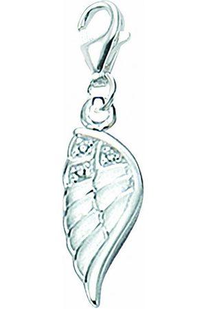 Adelia's Charm-Einhänger »925 Charms Anhänger Flügel mit Zirkonia«, 925 Sterling Silberschmuck für Damen