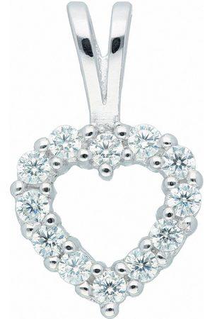 Adelia's Anhänger Set »925 Anhänger Herz mit Zirkonia«, 925 Sterling Silberschmuck für Damen
