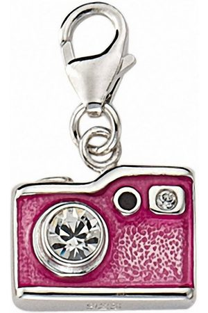 Adelia's Charm-Einhänger »925 Charms Anhänger Fotoapparat mit Zirkonia«, 925 Sterling Silberschmuck für Damen
