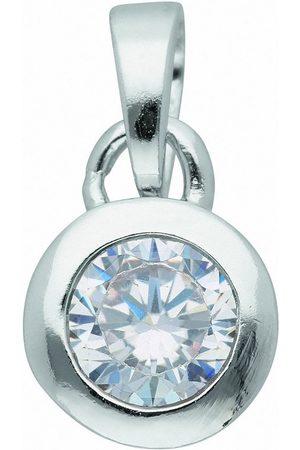 Adelia's Damen Uhren - Anhänger Set »925 Anhänger mit Zirkonia Ø 7 mm«, 925 Sterling Silberschmuck für Damen