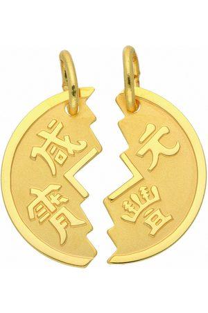 Adelia's Damen Uhren - Anhänger Set »333 Gold Anhänger Partneranhänger«, 333 Gold Goldschmuck für Damen