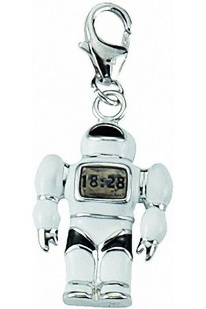 Adelia's Damen Uhren - Charm-Einhänger »925 Charms Anhänger Roboter«, 925 Sterling Silberschmuck für Damen