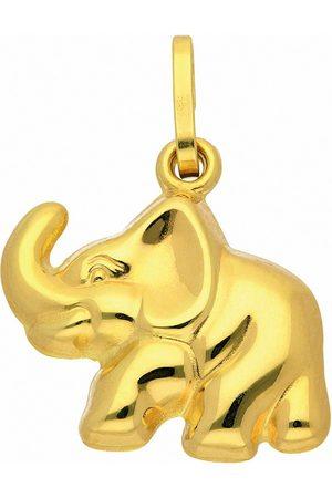 Adelia's Damen Uhren - Anhänger Set »333 Gold Anhänger Elefant«, 333 Gold Goldschmuck für Damen
