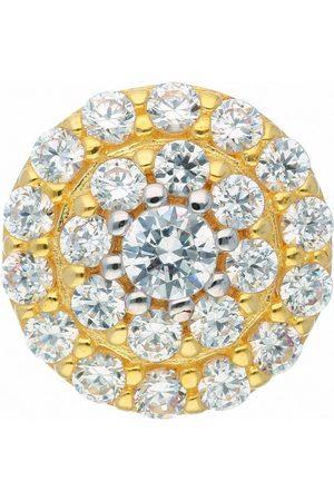 Adelia's Kettenanhänger »585 Gold Anhänger mit Zirkonia Ø 9,5 mm«, Goldschmuck für Damen