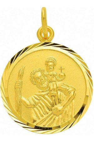 Adelia's Anhänger Set »585 Gold Anhänger Christophorus Ø 16 mm«, 585 Gold Goldschmuck für Damen