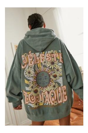 Urban Outfitters Damen Freizeitkleider - UO Zodiaque Hoodie Dress