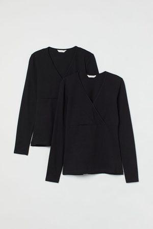 H&M MAMA 2er-Pack Stillshirts