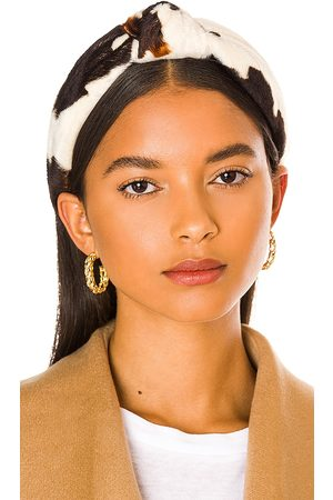 Lele Sadoughi Damen Hüte - Faux Cowhide Knotted Headband in .