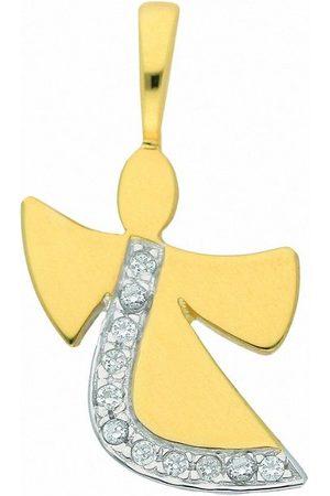 Adelia's Kettenanhänger »333 Gold Anhänger Engel mit Zirkonia«, für Damen