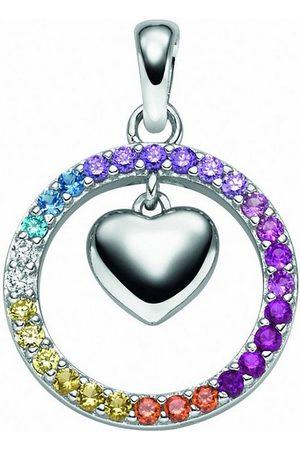 Adelia's Damen Uhren - Kettenanhänger »925 Anhänger Herz mit Zirkonia«, für Damen