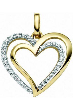 Adelia's Damen Uhren - Kettenanhänger »333 Gold Anhänger Herz mit Zirkonia«, für Damen