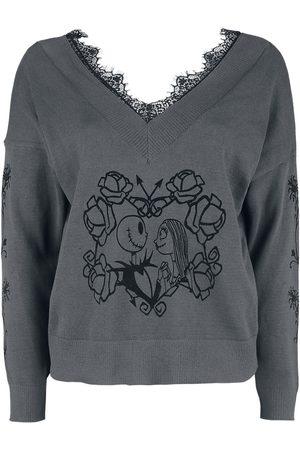 The Nightmare Before Christmas Damen Sweatshirts - Jack & Sally In Love Sweatshirt dunkelgrau
