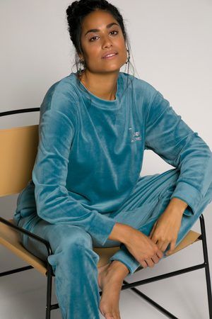 Ulla Popken Homewear-Pullover, Damen, türkis