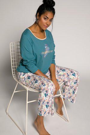 Ulla Popken Pyjama, Damen, türkis