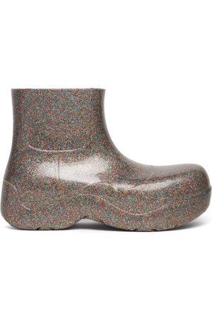 Bottega Veneta The Puddle Glitter Rubber Ankle Boots