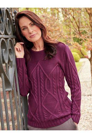 Avena Damen Strickpullover - Damen Pullover Zopfmuster