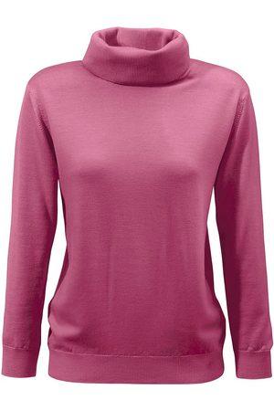 Peter Hahn Damen Rollkragenpullover - Pullover aus 100%Schurwolle Pure Tasmanian Wool rosé