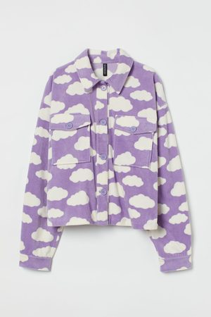 H&M Damen Fleecejacken - Oversized Hemdjacke aus Fleece