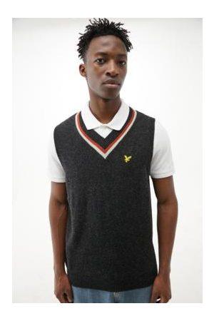 Lyle & Scott Westen - UO Exclusive Grey & Orange Knitted Vest