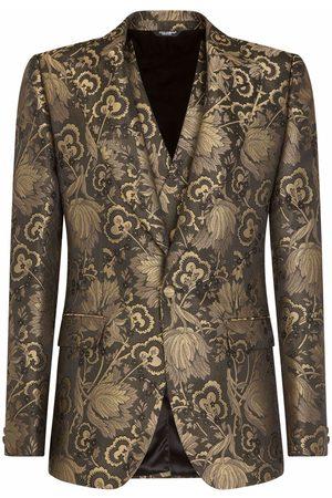 Dolce & Gabbana Anzug aus Lamé mit Jacquardmuster
