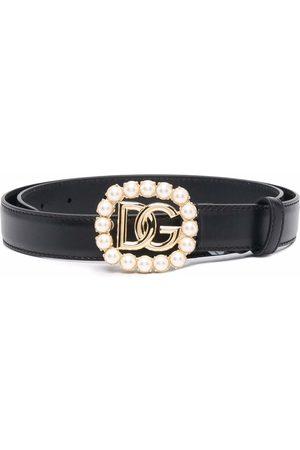 Dolce & Gabbana Damen Gürtel - Gürtel mit Strass-Logo