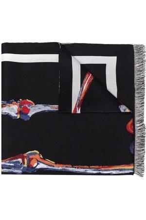 Alexander McQueen Schal mit Skelett-Print