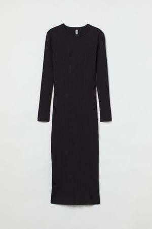 H&M Damen Freizeitkleider - Geripptes Kleid