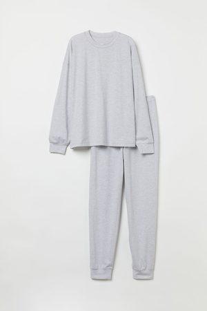 H&M Damen Schlafanzüge - Gemusterter Jerseypyjama