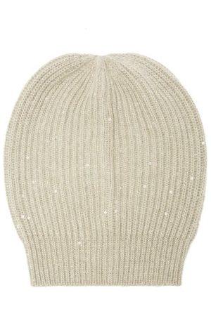 Brunello Cucinelli Sequinned Cashmere-blend Beanie Hat