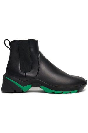 Bottega Veneta Exaggerated-sole Leather Chelsea Boots