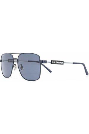 Balenciaga Logo Square Sunglasses , Herren, Größe: One size