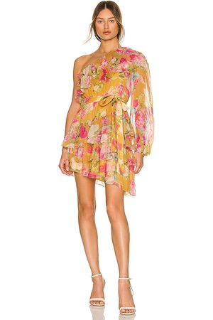 ROCOCO SAND Avar Belted One Shoulder Dress in . Size M, S, XS.