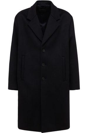 Prada Einreihiger Mantel Aus Wolle Und Kaschmir