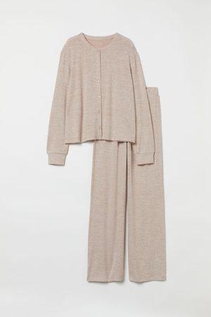 H&M Pyjama mit Cardigan und Hose