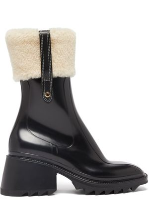 Chloé Betty Shearling-cuff Rubber Ankle Boots