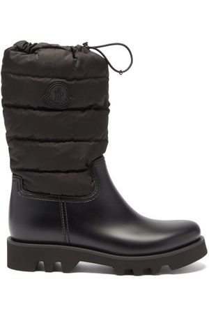 Moncler Ginette Logo-patch Quilted-nylon And Rubber Boots