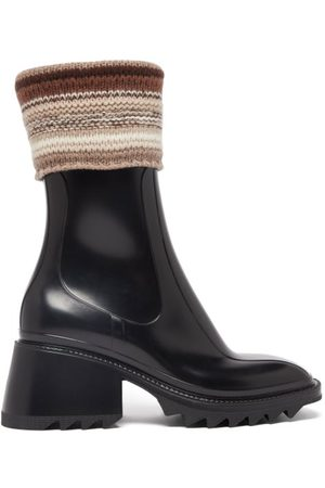 Chloé Betty Knitted-cuff Rubber Ankle Boots