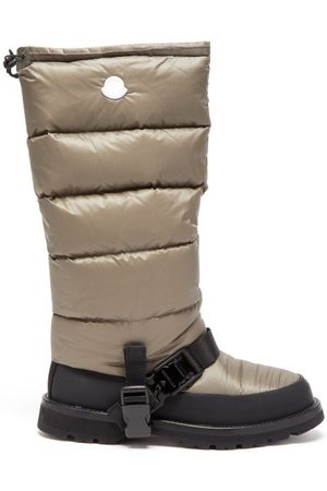 4 MONCLER HYKE Mhyke Long Quilted-nylon Snow Boots