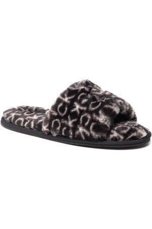 Calvin Klein Slipper Sandal Fur Mono HW0HW00535 Black Mono 0GK