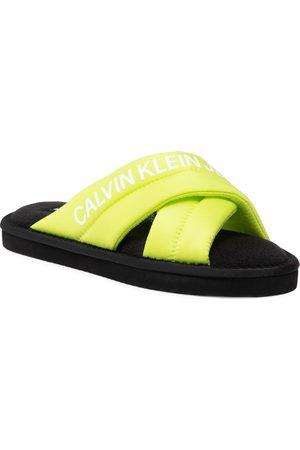 Calvin Klein Home Criss Cross Slipper YW0YW00477 Acld Lime LAG