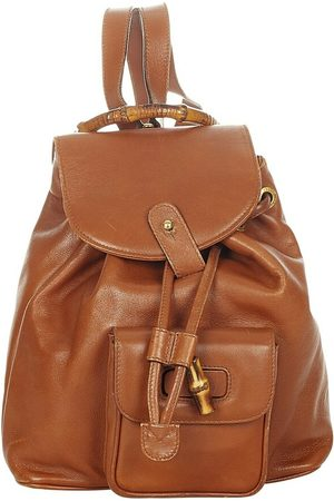 Gucci Pre-owned Bamboo Drawstring Leather Backpack , Damen, Größe: One size